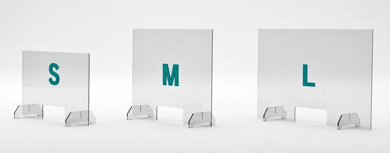 Acrylglas-Aufsteller in 3 Größen
